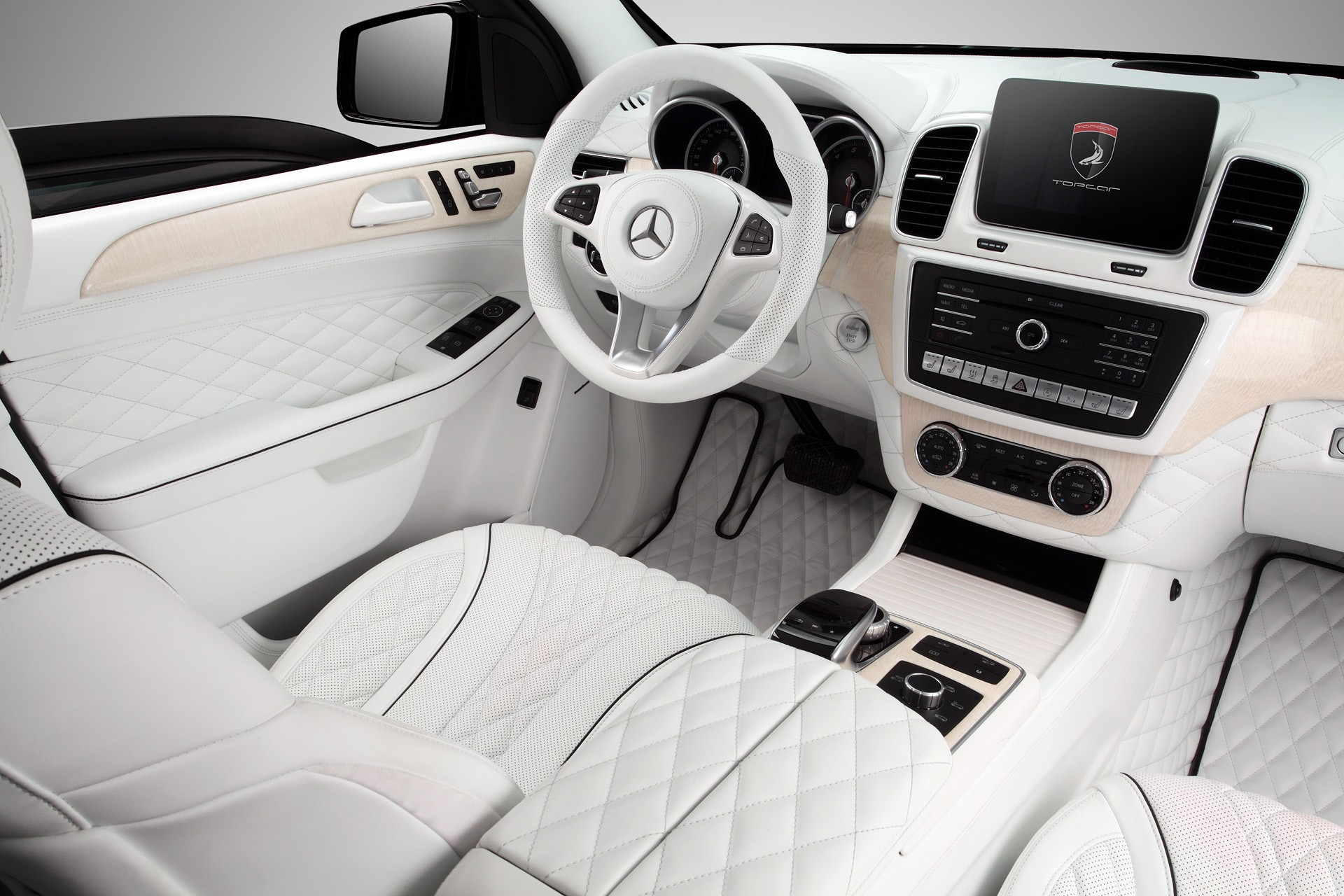 Mercedes Benz Gle Guard White Interior Topcar
